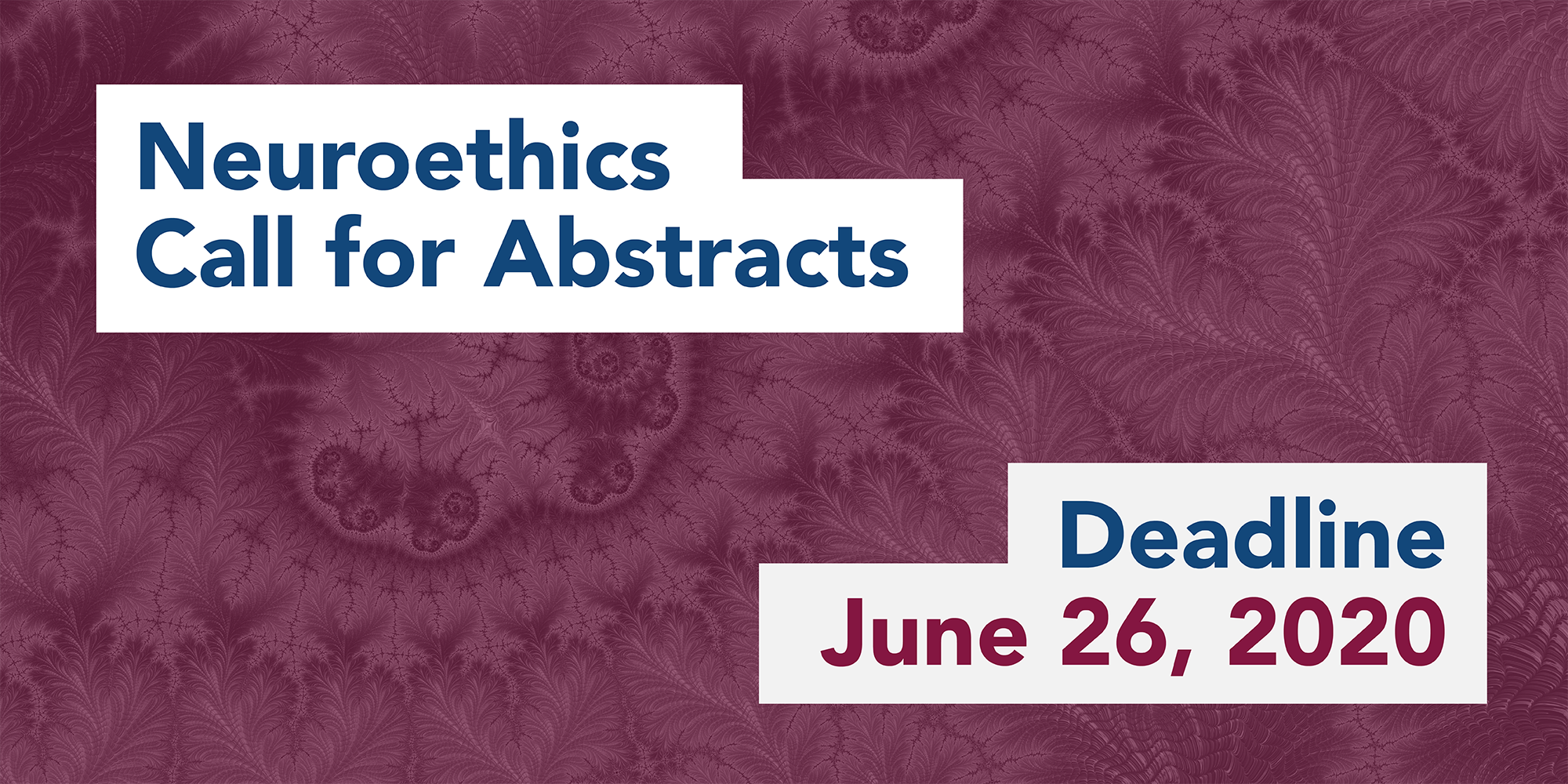 Call for abstracts deadline: June 26, 2020