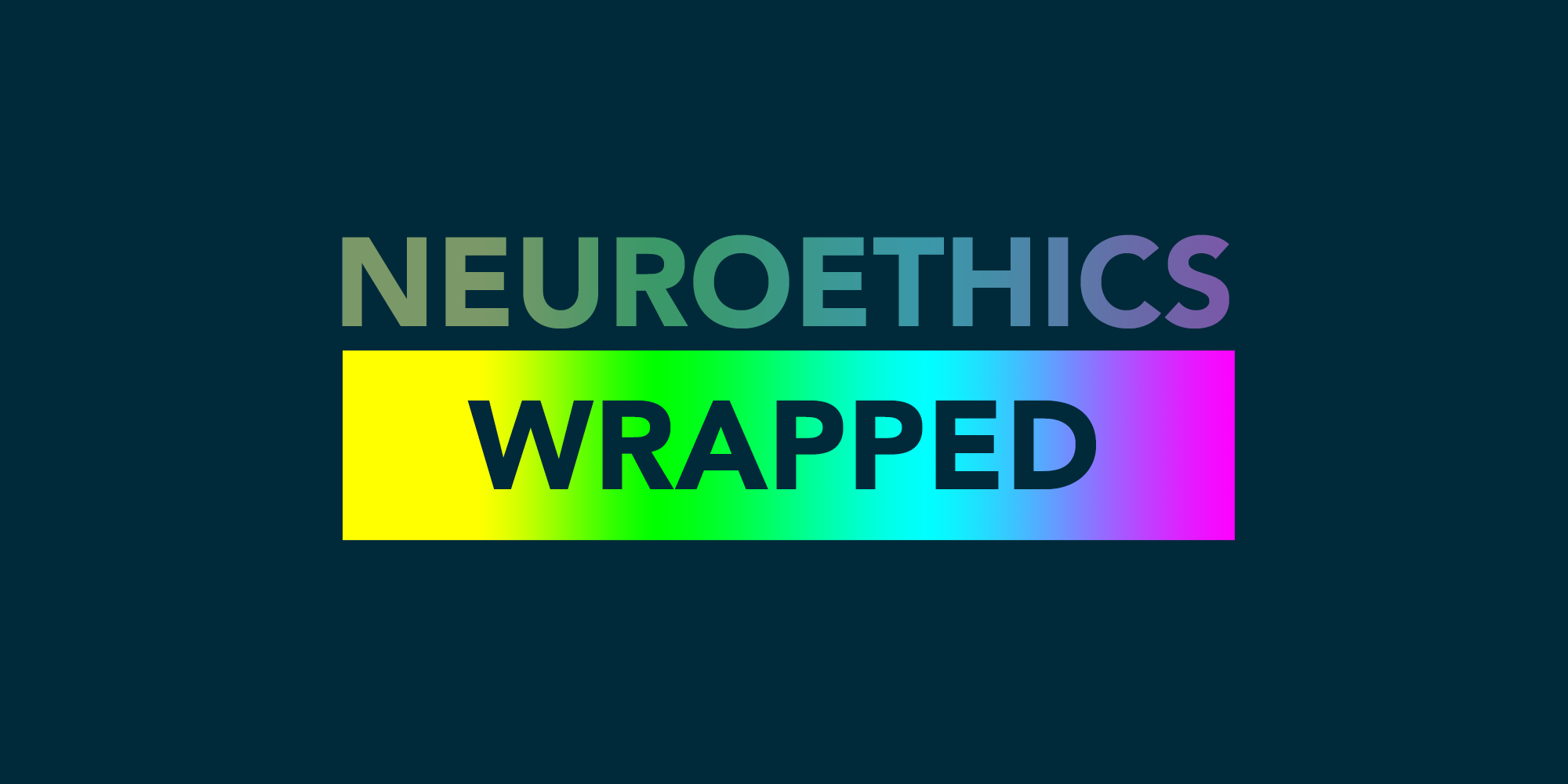 Neuroethics wrapped rainbow background