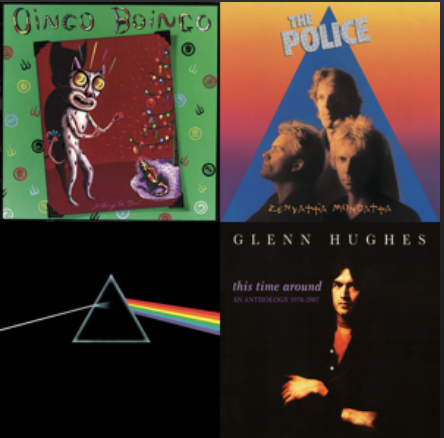 Four album covers from song selection; Credit: Spotify