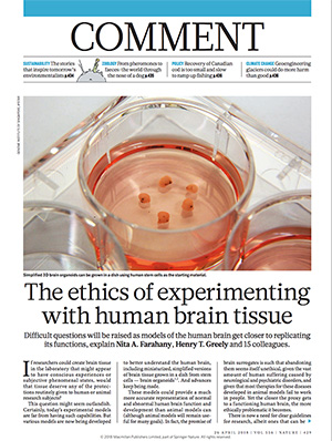 cover page of article in Nature